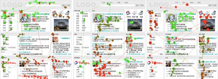 דוגמא למעקב עיניים של תושב סין. המראה הכללי וההרמוניה של החלקים השונים הם החשובים.