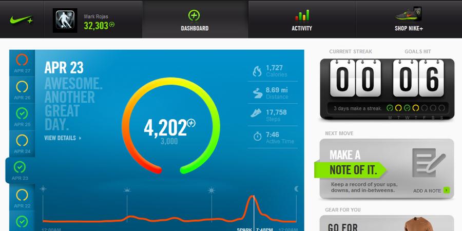 דוגמא: Nike+ fuelband